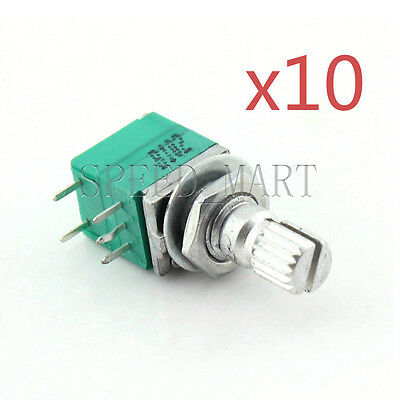 10x B1K Audio Amplifier Sealed Potentiometer 15mm Shaft 5 pins
