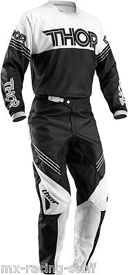 THOR Phase Hyperion Cross Combo 2016 Hose Jersey Motocross Enduro MX blu/blk/red