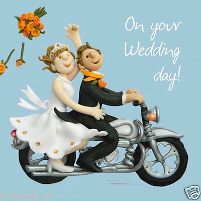"Holy Mackerel's""on Your Wedding Day"" Card *free 1St Class P&p"