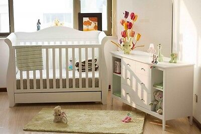 Nursery Change Table Changing Baby Chest of Drawers Dresser Cabinet Changer