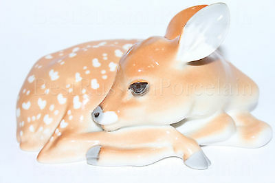 Russian Imperial Lomonosov porcelain Figurine / Sculpture Big Fawn, Deer Russia
