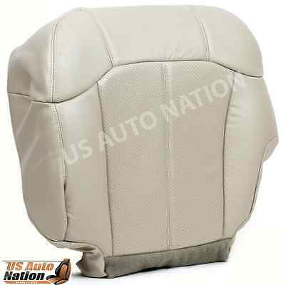 2002 Cadillac Escalade Front Driver Bottom Perforated Leather Seat Cover TAN