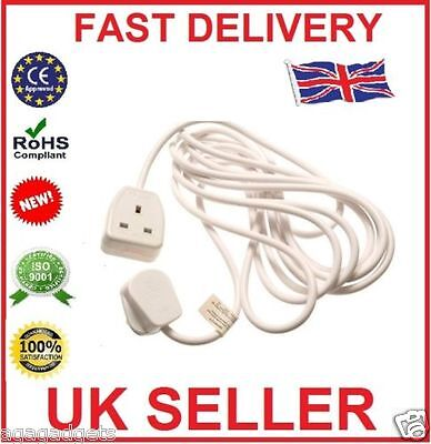 NEW! 1 way gang 2m meter 13amp extension lead cable plug socket uk