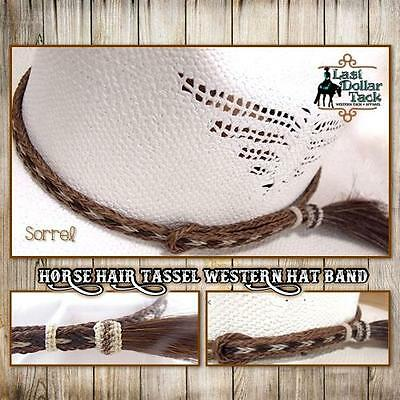Western Hat Band~Braided Horse Hair With Tassel ~ Outstanding Design ~ Sorrel