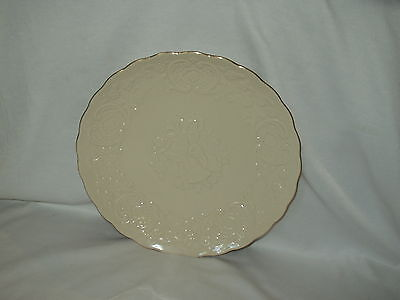 """LENOX CHINA made in U.S.A. 12 1/2"""" gold edging WEDDING PROMISES MARRIAGE PLATE"""
