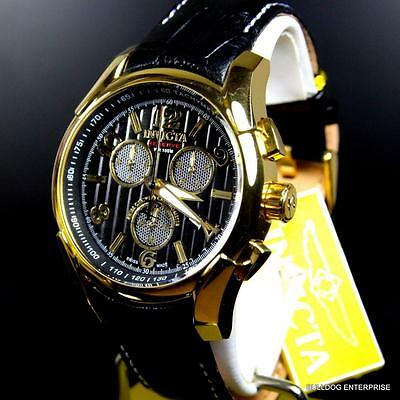 Invicta Reserve Specialty Swiss Made COSC Chronometer Chrono Black Watch New