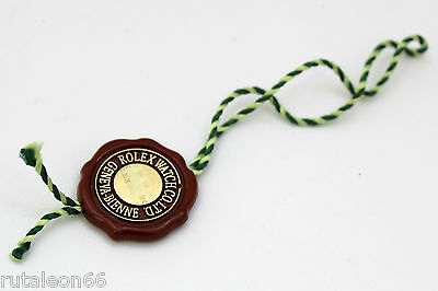 ROLEX genuine label Swiss chronometer certified 4crowns hologram red hang tag