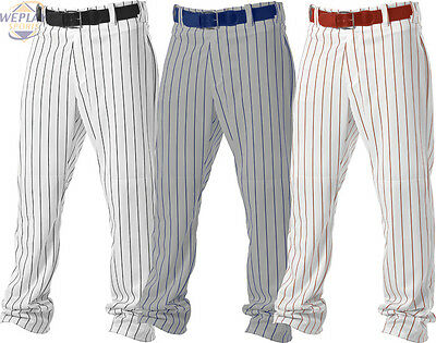 Alleson Adult Mens Relaxed Fit Open Bottom Pinstripe Baseball Pants 605WPN