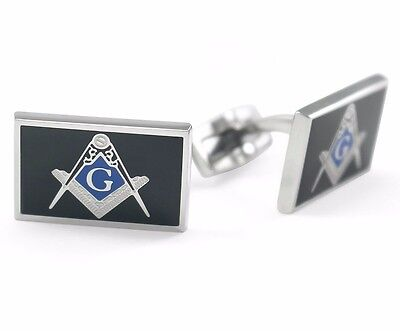 Masonic Cuff Links with Square & Compass | Freemasonry | Fathers Day Gifts