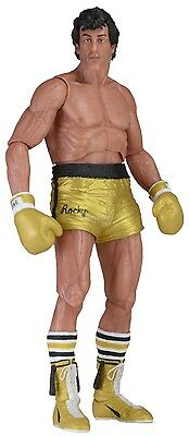 "Rocky 40th Anniversary - 7"" Scale Figure - Series 1 - Rocky w/ Gold Trunks- NECA"
