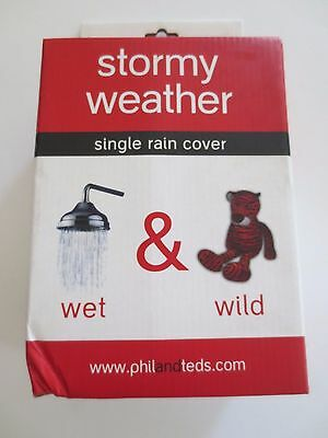 phil&teds Stormy Weather Cover for Single Vibe Stroller