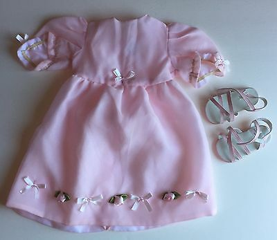 My Twinn Doll Pink Dress with Roses and Sandals