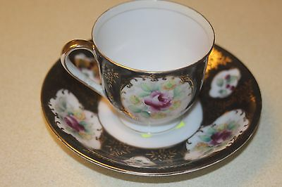 cup and saucer hand painted Yold China occupied Japan