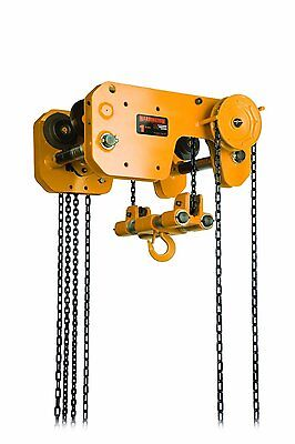 Harrington 1-Ton Ultra-Low Headroom Trolley Hoist    Rigging & Lifting