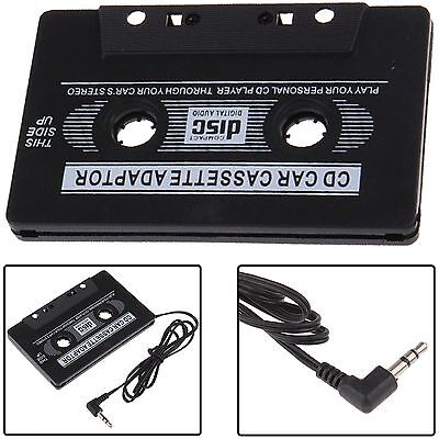 3.5 mm Car Audio Tape Cassette Adapter Jack AUX IPOD MP3 DVD CD Player Black