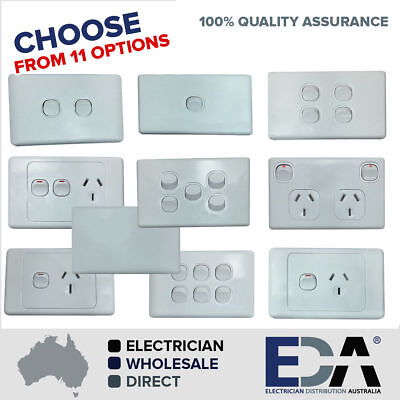 Elelctrical Socket Switch Power Point Outlet Plate Gang 240V Gpo Single Double
