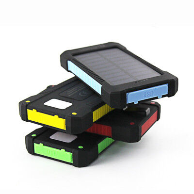 50000mah Solar Power Bank 2USB LED Battery Charger For SmartPhone Mobile Devices