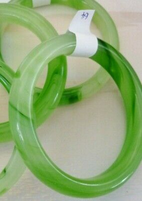 SOFT LIGHT GREEN BANGLE 63mm to 66mm inside widths to pick from SMOOTH POLISHED
