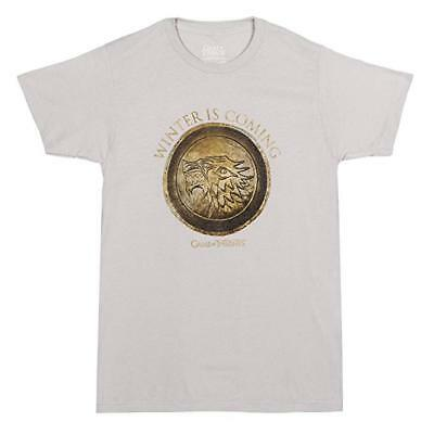 Game Of Thrones STARK SEAL WINTER IS COMING CIRCLE T-Shirt NWT Official S-3XL