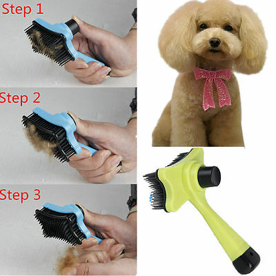 Pet Dog Cat Hair Fur Shedding Trimmer Rake Professional Comb Brush Tool