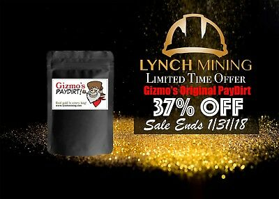 Limited Time Offer! Gizmo's Original PayDirt - Gold & Gems - Lynch Mining™, LLC