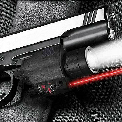 Tactical Red Laser Sight&CREE LED Flash Light Combo For rifle shotgun 20mm Rail