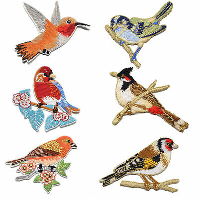 Lovely Bird Pattern Iron On Patches Embroidered Applique DIY Clothing Bags 1pc