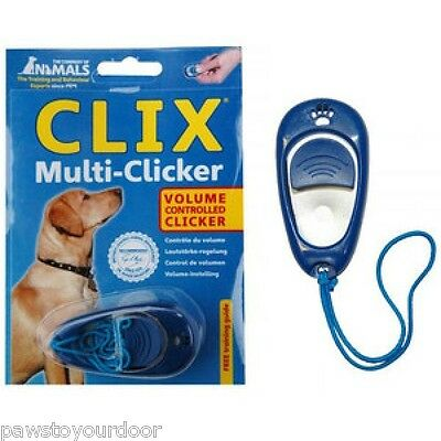 Clix Multi Clicker Trainer Clicker Puppy Dog Training Volume & Tone Control CoA