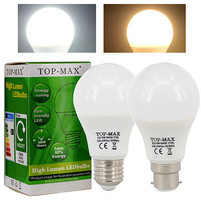 B22 E27 ES BC 8W 10W 12W Dimmable LED Bulb Cool Warm White 2835 SMD Globe Lamp