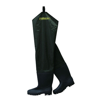 New Mens Fishing Green Thigh Waders Wellies Wellingtons Boots Size 6-11