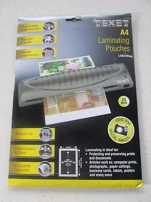 25 Texet A4 Size Laminating Pouches Photo And Digital Image Lamination