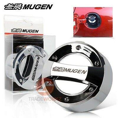 Brand New MUGEN Chrome Finish Racing Car Oil Filler Cap Fuel Tank Cover