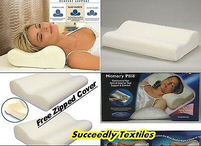 Contour Memory Foam Pillow Orthopaedic Firm Head Neck Back Support Pillows Ct1