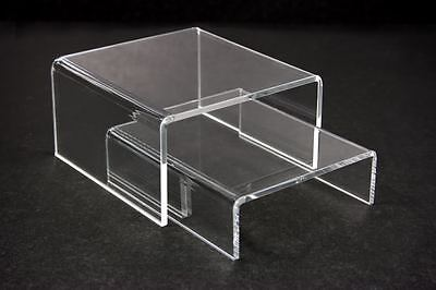 "15 sets Value Pack = 30pc of Clear Acrylic Riser Stand counter display 4""L x 4""W"