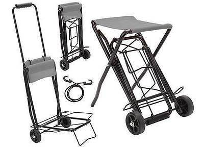 Folding Sack Truck Luggage Suitcase Camping Festival Warehouse Cart Trolley