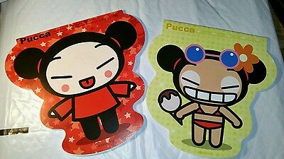 TWO Pucca notepads funny Love Notebook  NEW Anime Japanese Garu