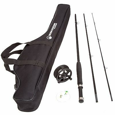 New Fly Fishing Rod Reel Combo Tackel and Carry Bag - Black Free Shipping