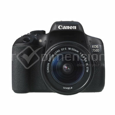 Canon EOS 750D Rebel T6i+EF-S 18-55mm IS STM Multi Language Nuevo