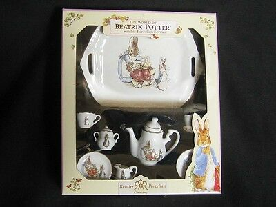 Beatrice Potter *NEW* Reuter of Germany Collectors Porcelain Tea Set with Tray