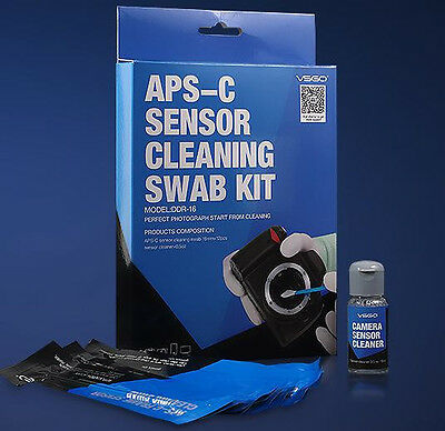 Professional APS CCD/CMOS 12 Sensor Cleaning Swab + Cleaner Kit for DSLR Camera