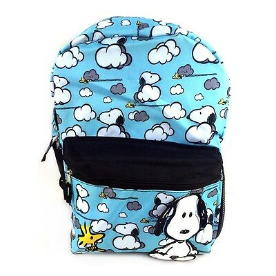 """Peanuts Snoopy All Over Print 17"""" Large Size School Backpack"""