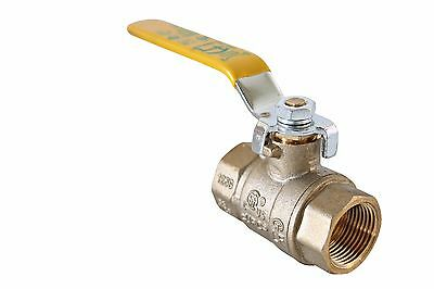 "1"" Inch Full Port Brass Ball Valve Lead Free FIP x FIP Threaded Ends UPC/UL/FM"