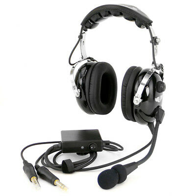 Rugged Air RA950 Stereo ANR General Aviation Pilot Headset - Aviation Headset