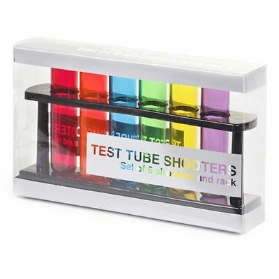 Test Tube Shooters - Set of 6 | party plastic shot glasses chemistry bar glass d