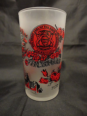 Vintage Federal Frosted State Souvenir Drinking Glass Michigan
