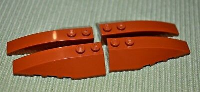 4 Black 4x4 Tapered Rounded Top Nose Cover Bricks ~ Lego ~ NEW ~