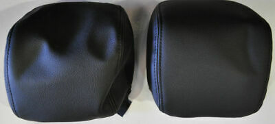 Genuine Holden VE Leather Onyx Head Rest Covers SS Omega Berlina Calais New Pair