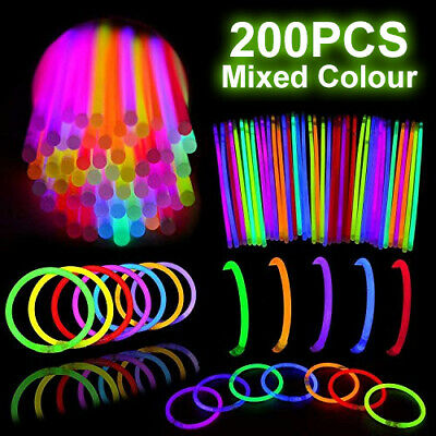 200 Color Mixed Glow Sticks Light Bracelets Party glowsticks glow in the dark