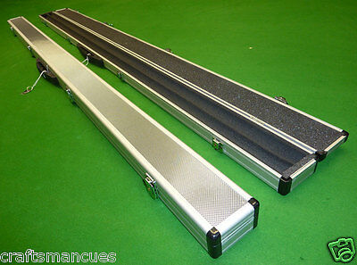 """1pc Double Aluminium Snooker cue / Pool cue case to hold 2 cues up to 59.25"""""""
