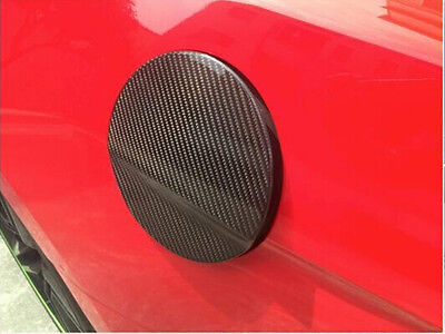 Carbon Fiber Auto Car Side Oil Fuel Tank Cover Cap Fit for Ford Mustang 2015 UP